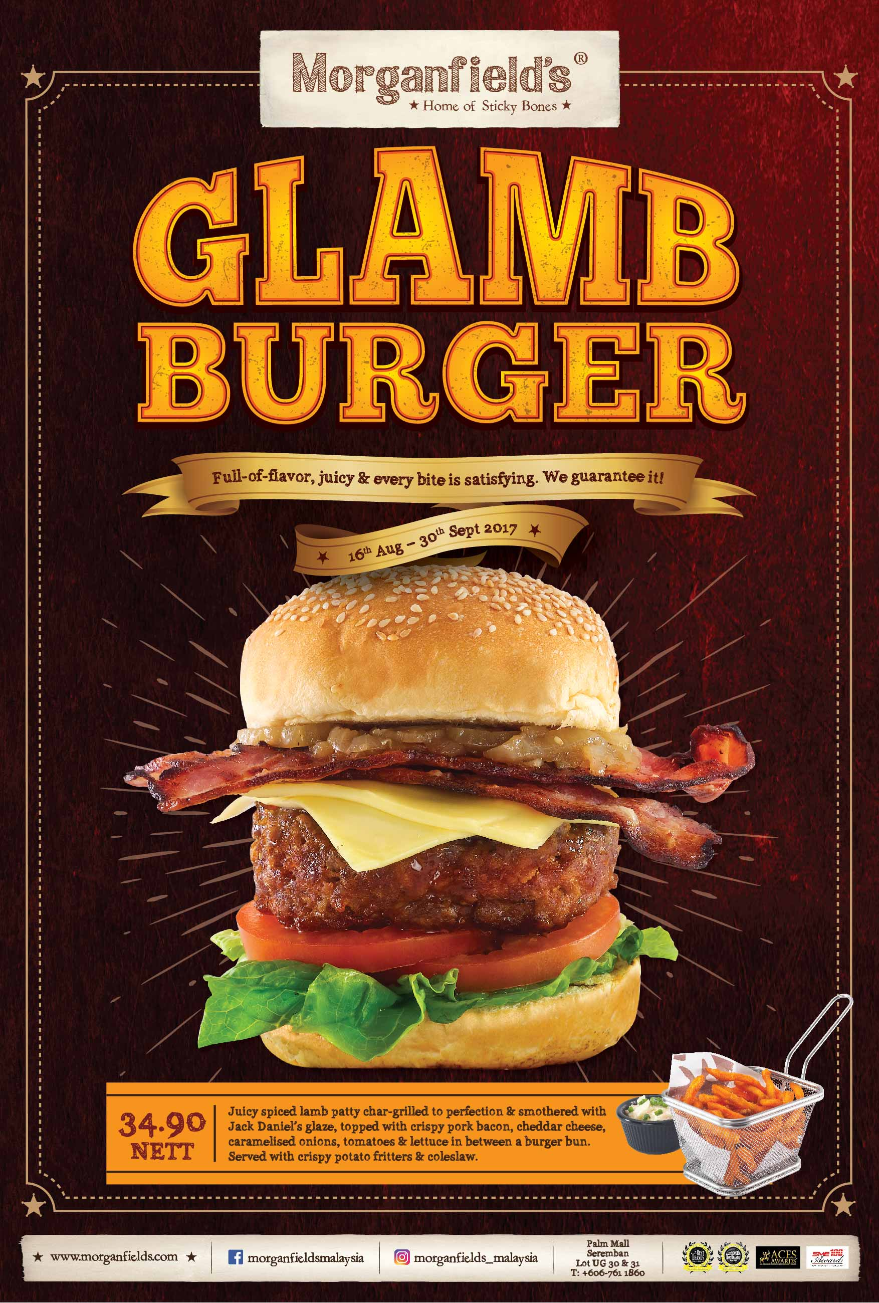 Morganfield's Glamb Burger Promotion