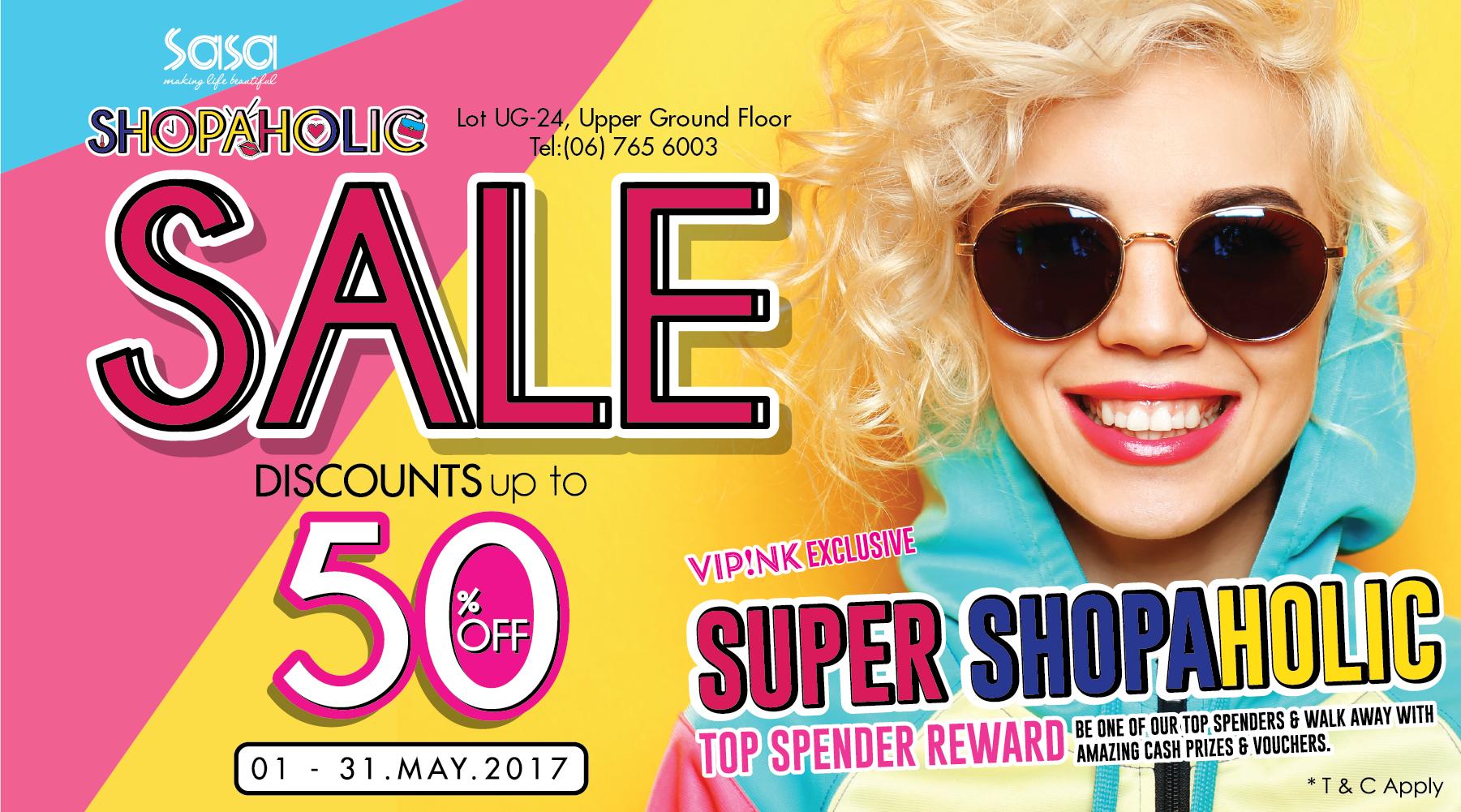 Sa Sa Shopaholic Sale