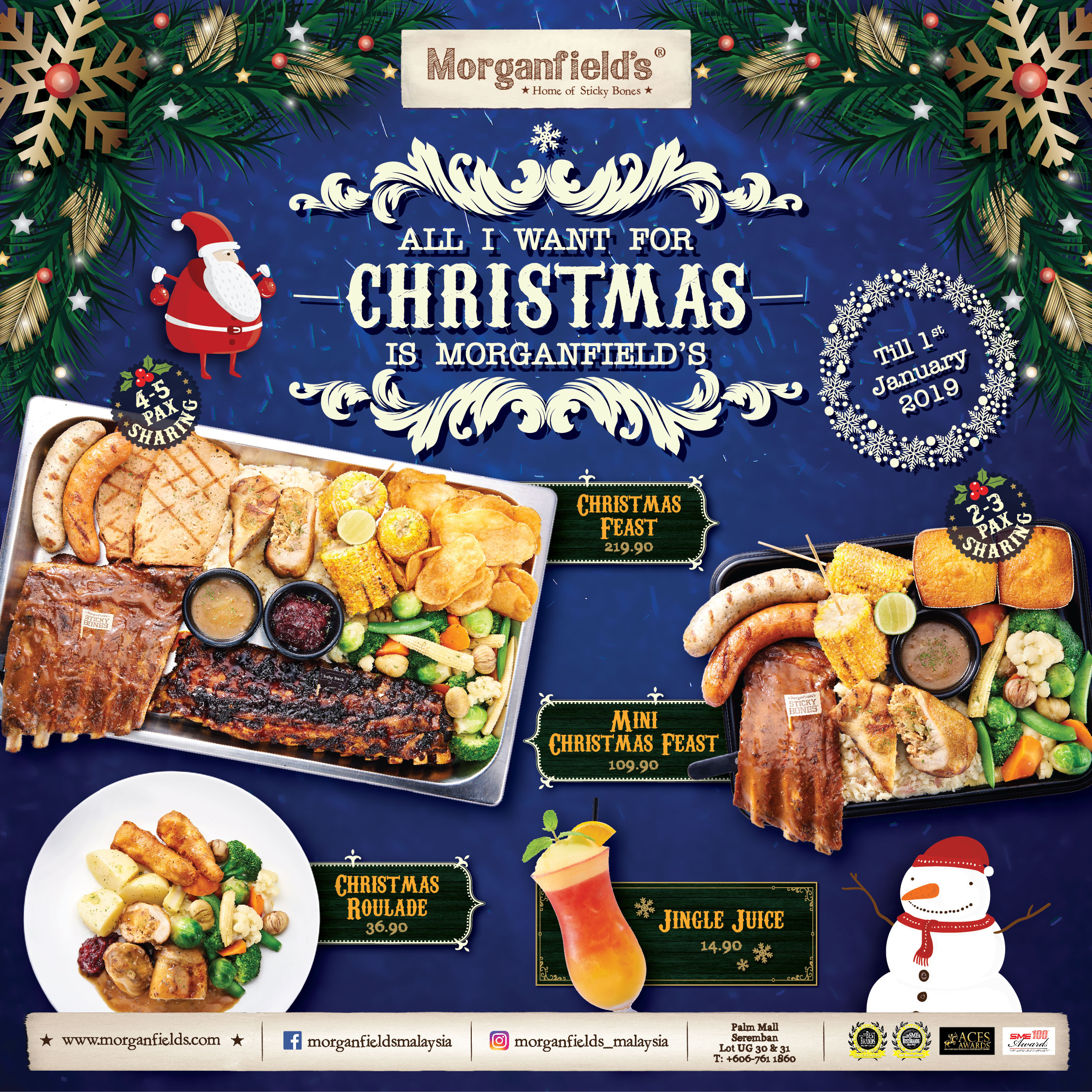 Morganfield's Christmas Promo