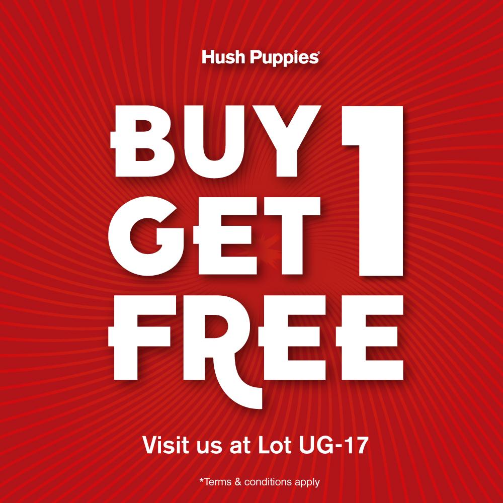 Hush Puppies - Buy 1 Get 1 Free