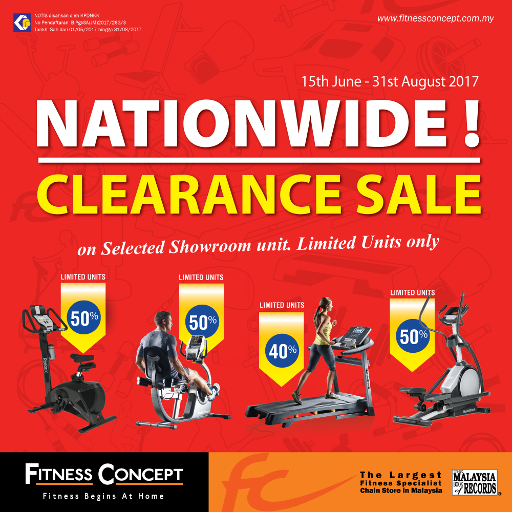 FITNESS CONCEPT CLEARANCE SALE