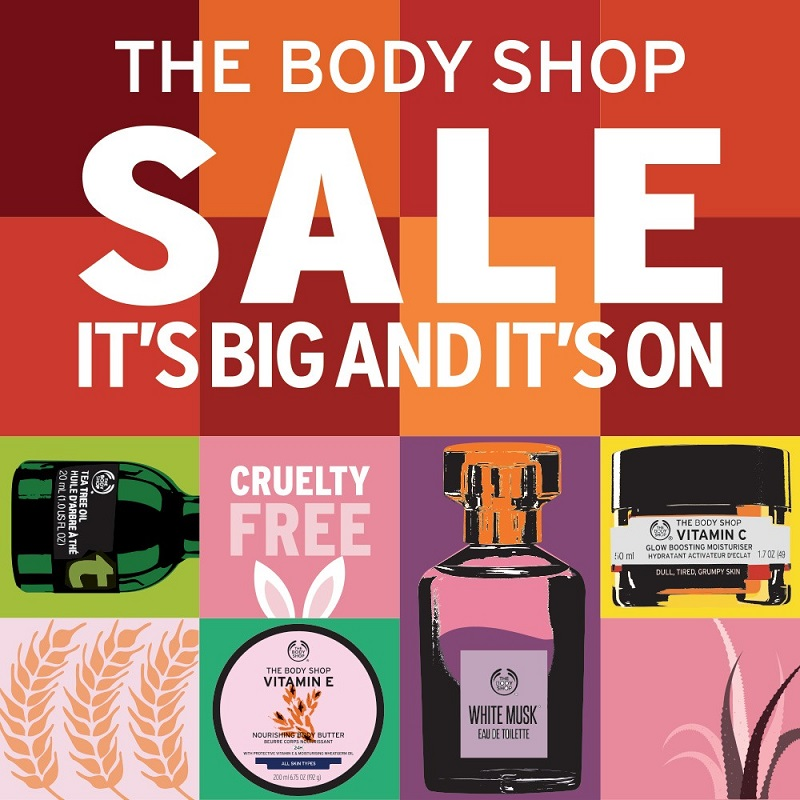 THE BODY SHOP MALAYSIA ON SALE UP TO 70%!