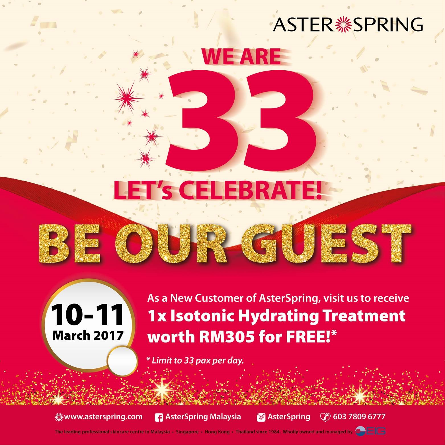 AsterSpring 33rd Anniversary
