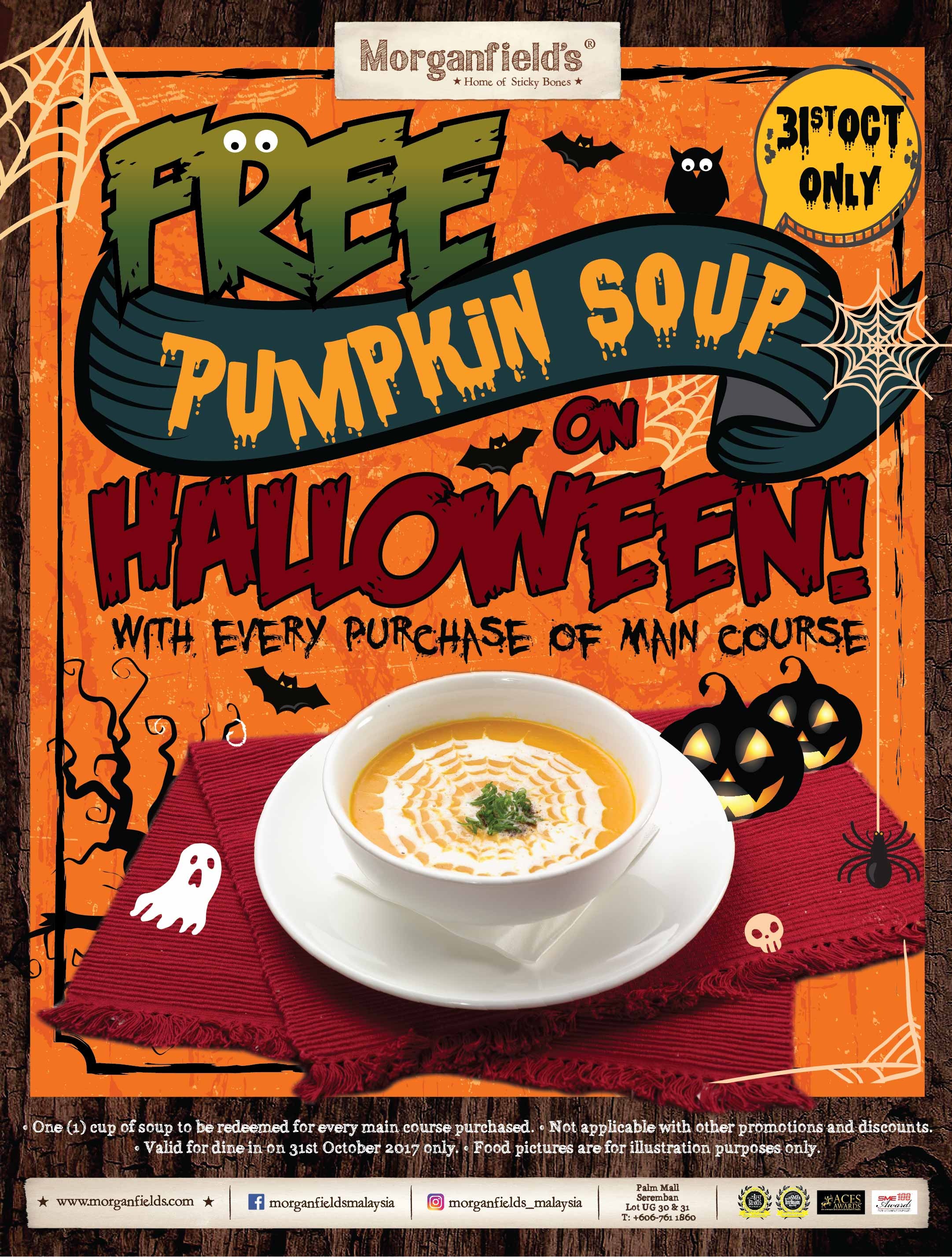 Morganfield's Halloween Promotion