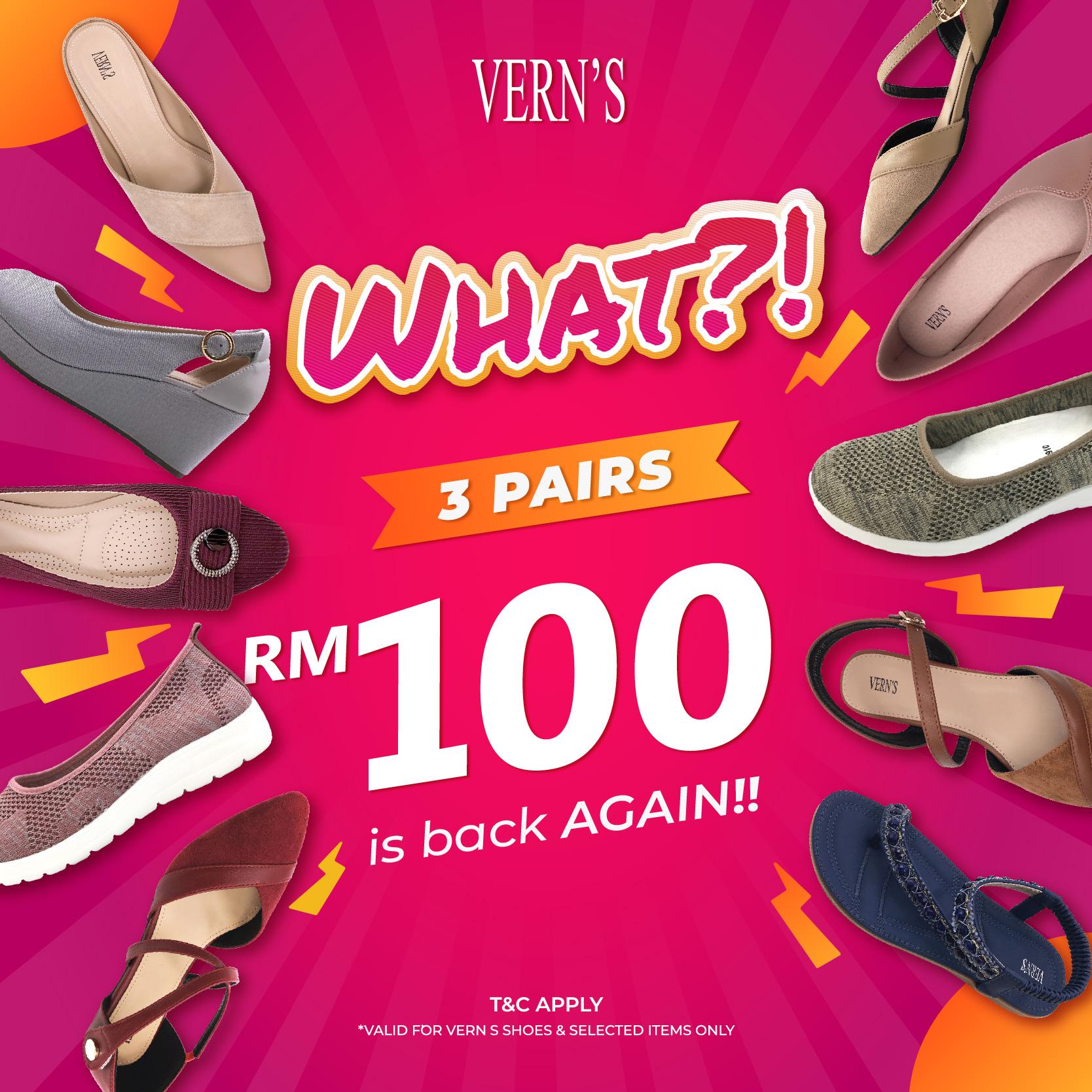 Vern's 3 pairs RM100