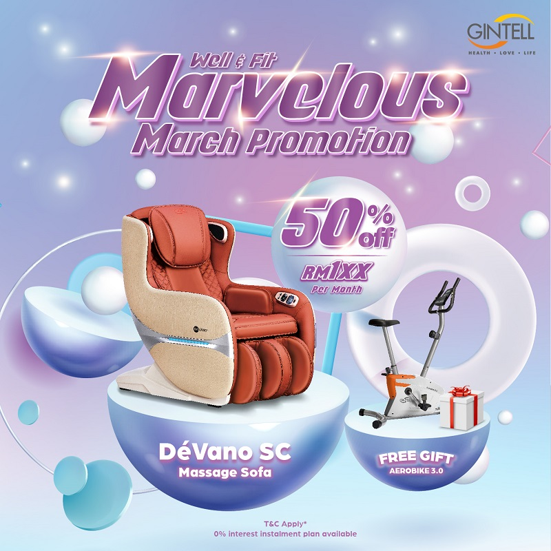 Gintell Marvelous March Promotion