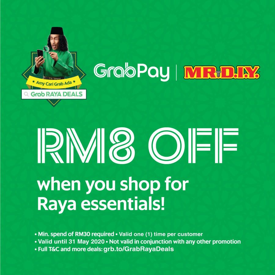 MR DIY: RM8 Off Grabpay!