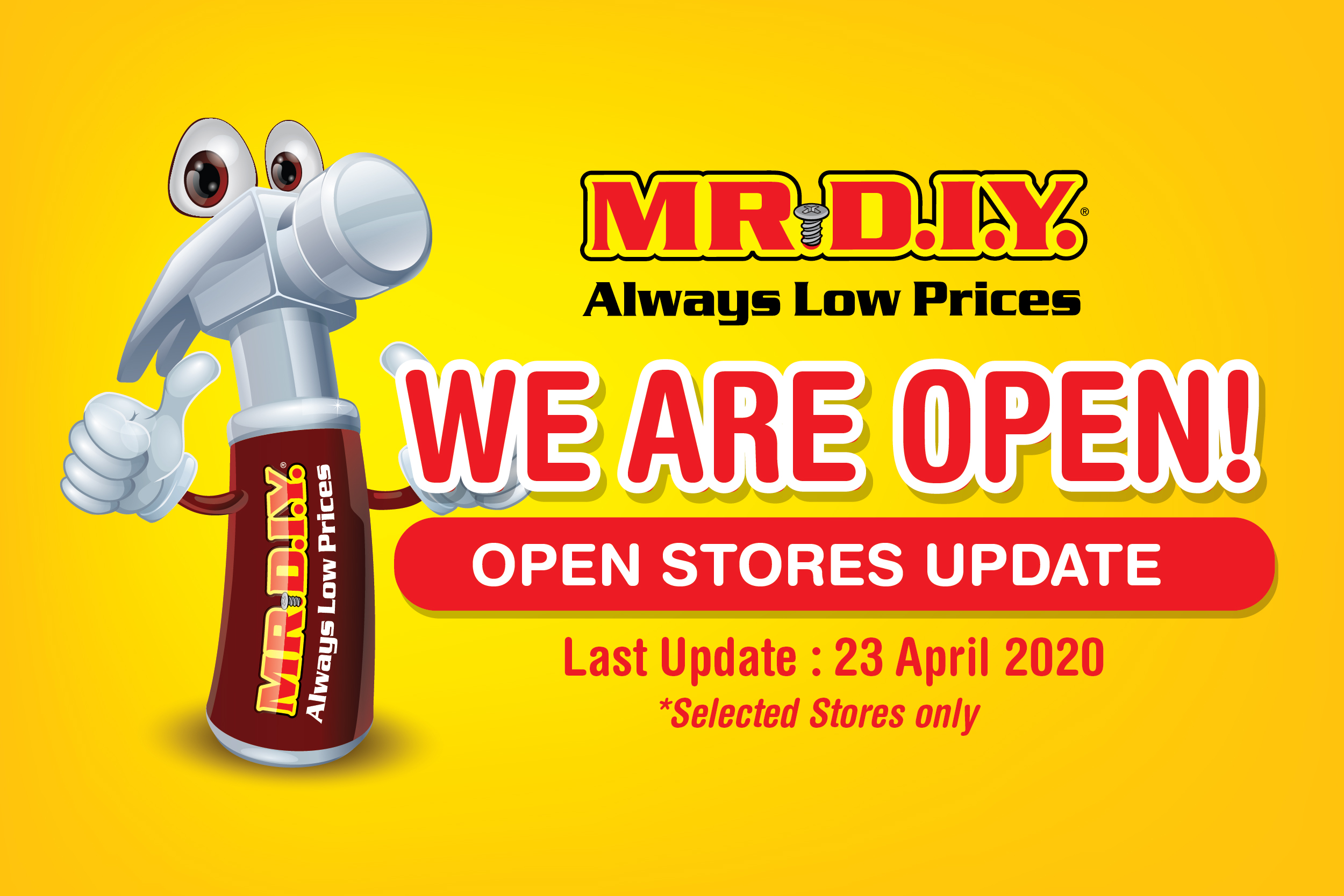 MR DIY Stores Are Open During MCO