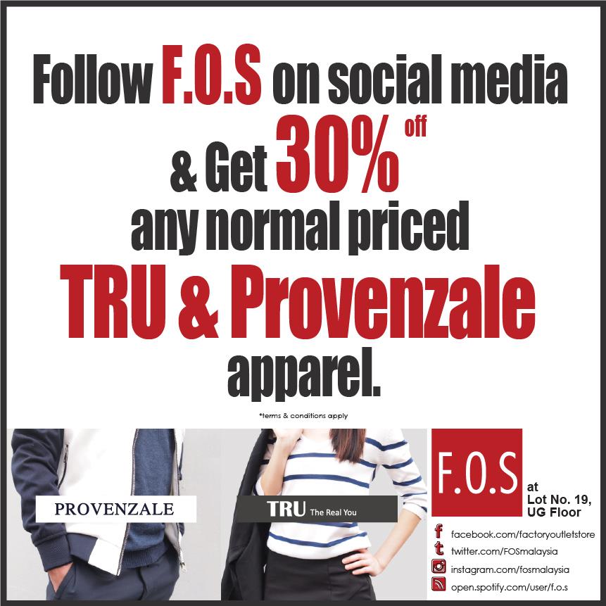30% off TRU & Provenzale Apparel