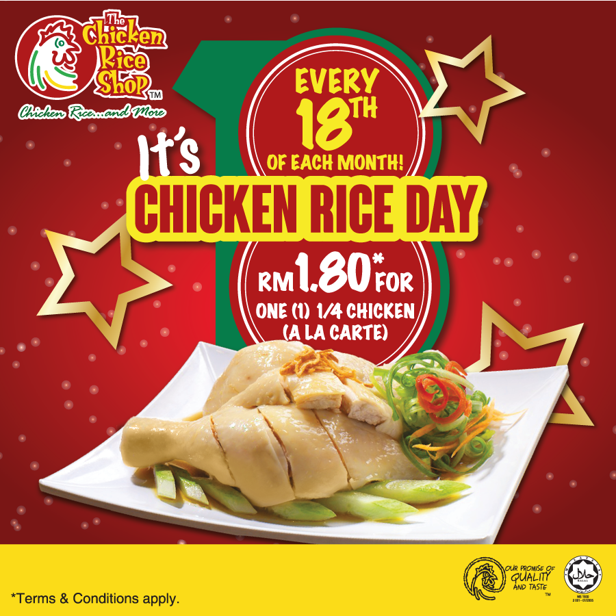 Chicken Rice Day On Every 18th Of Month
