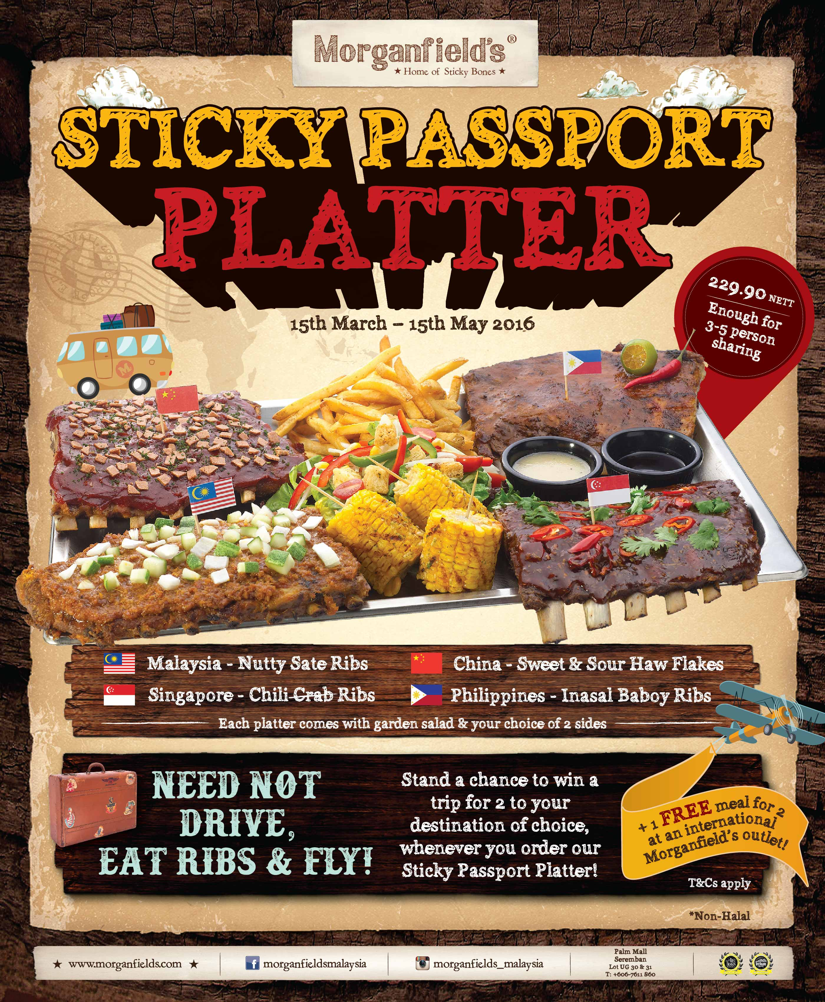 Morgnanfield's Sticky Passport Platter