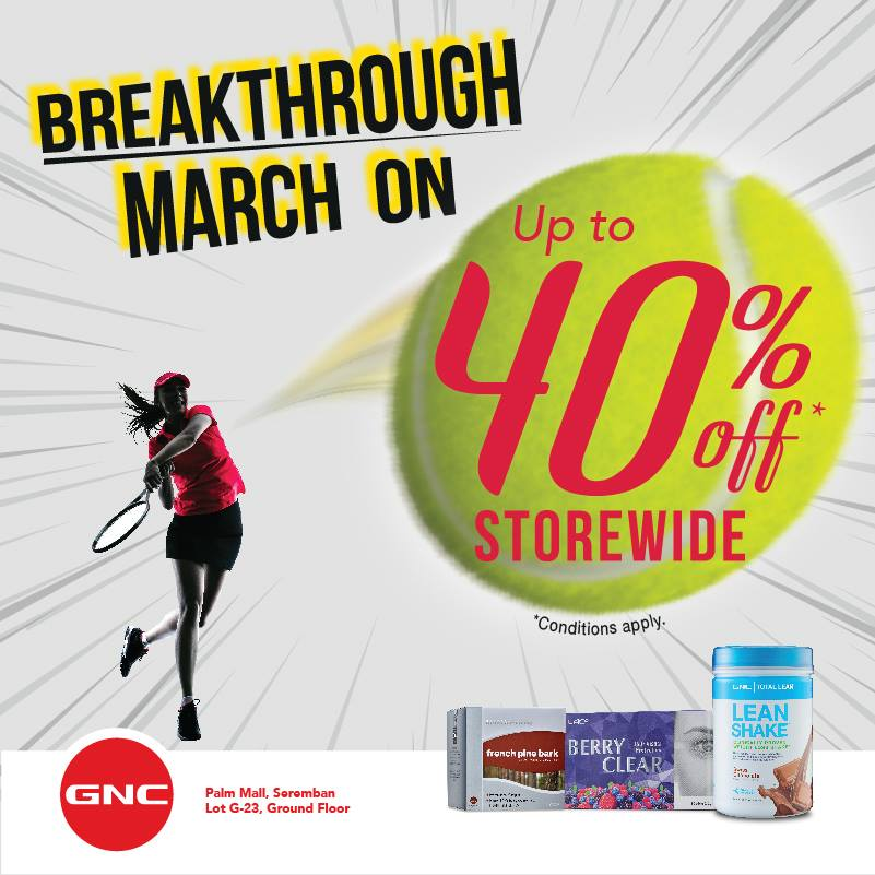 GNC March On Sale