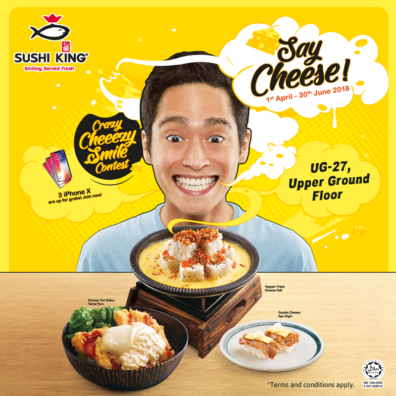 Sushi King Cheese Promotion