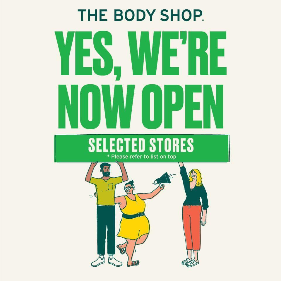 The Body Shop Now Open