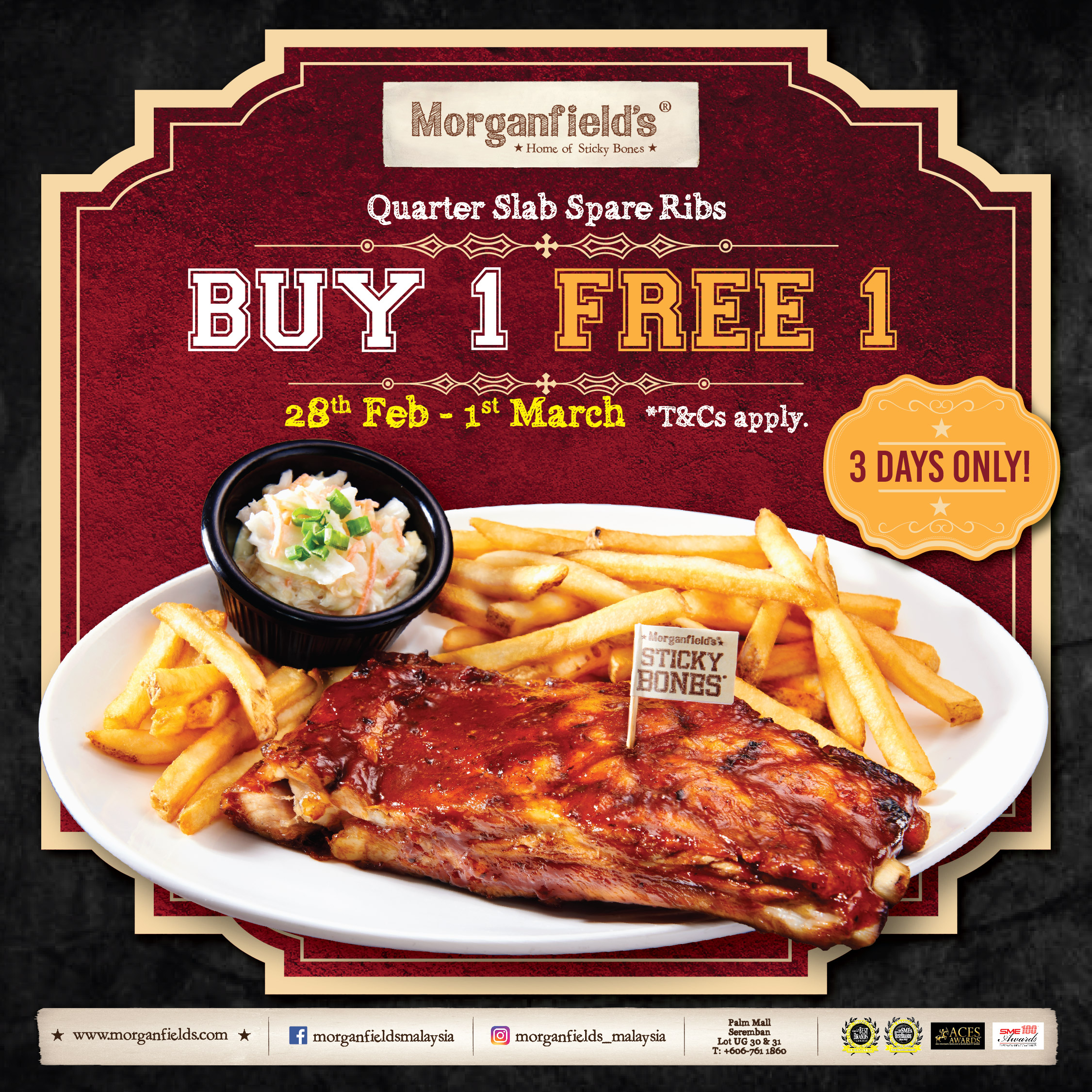 Morganfield's Buy 1 Free 1!
