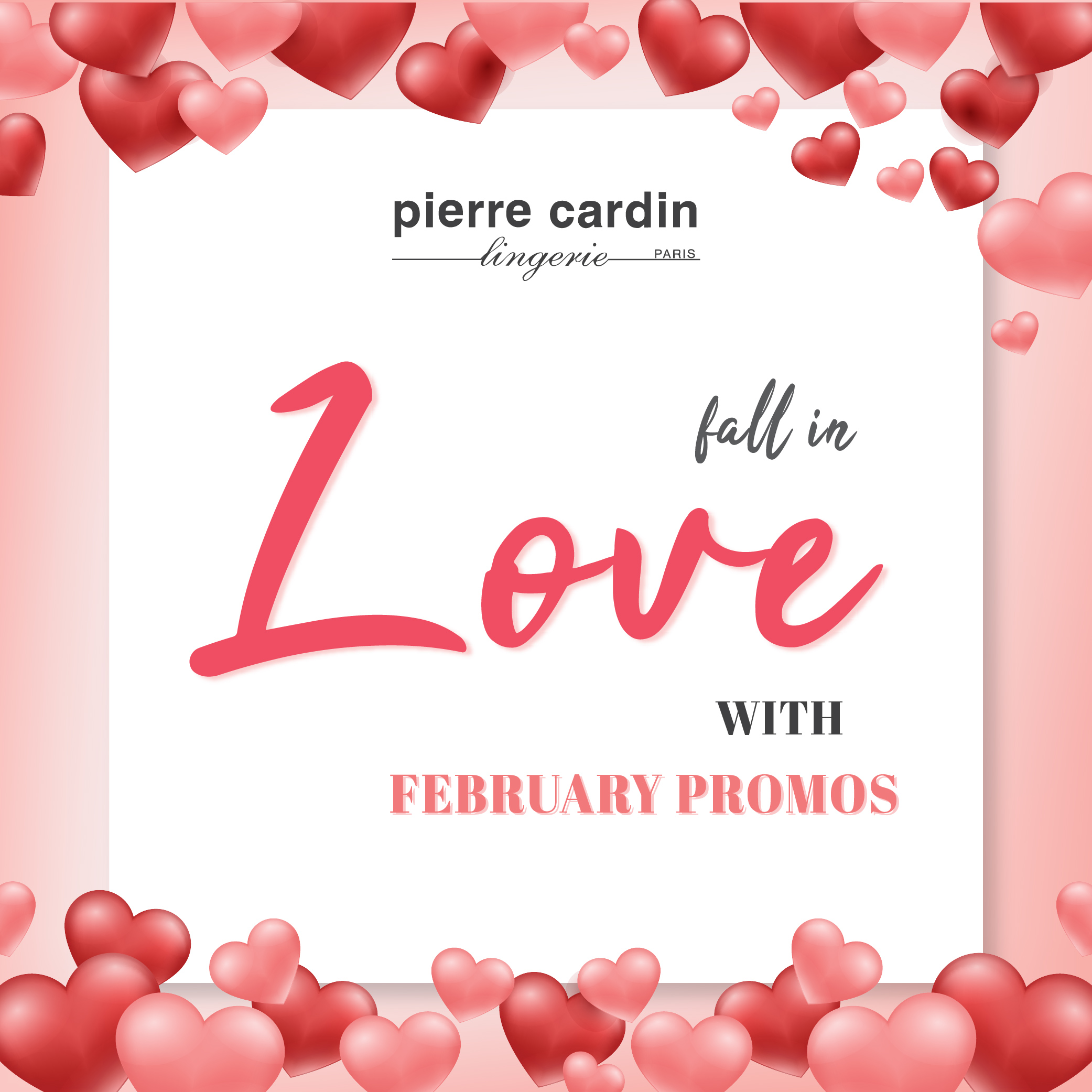 Pierre Cardin Lingerie & Energized Feb Promotion