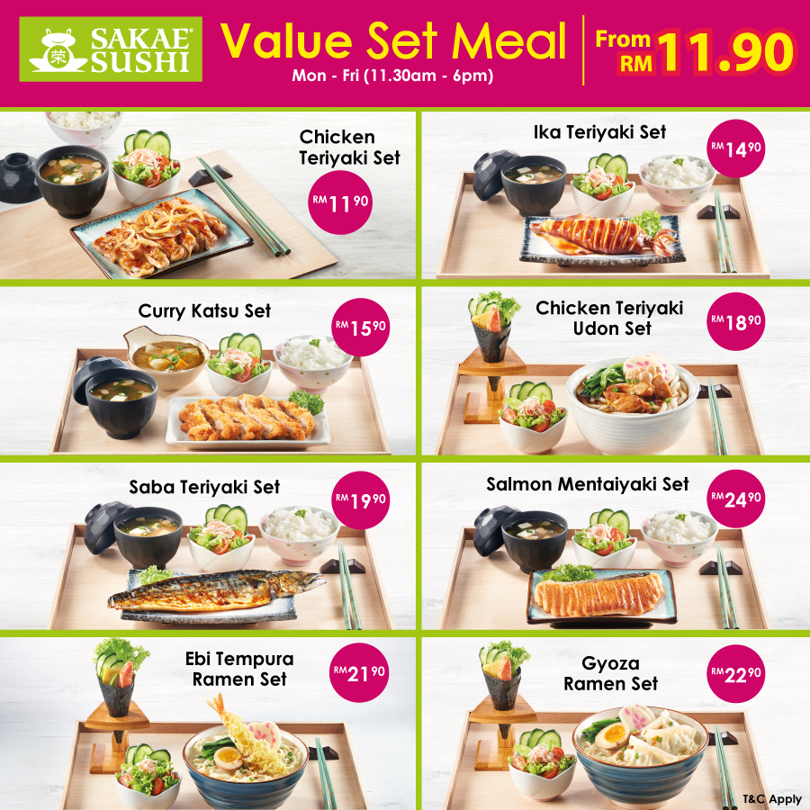 Sakae Sushi Value Set Meals