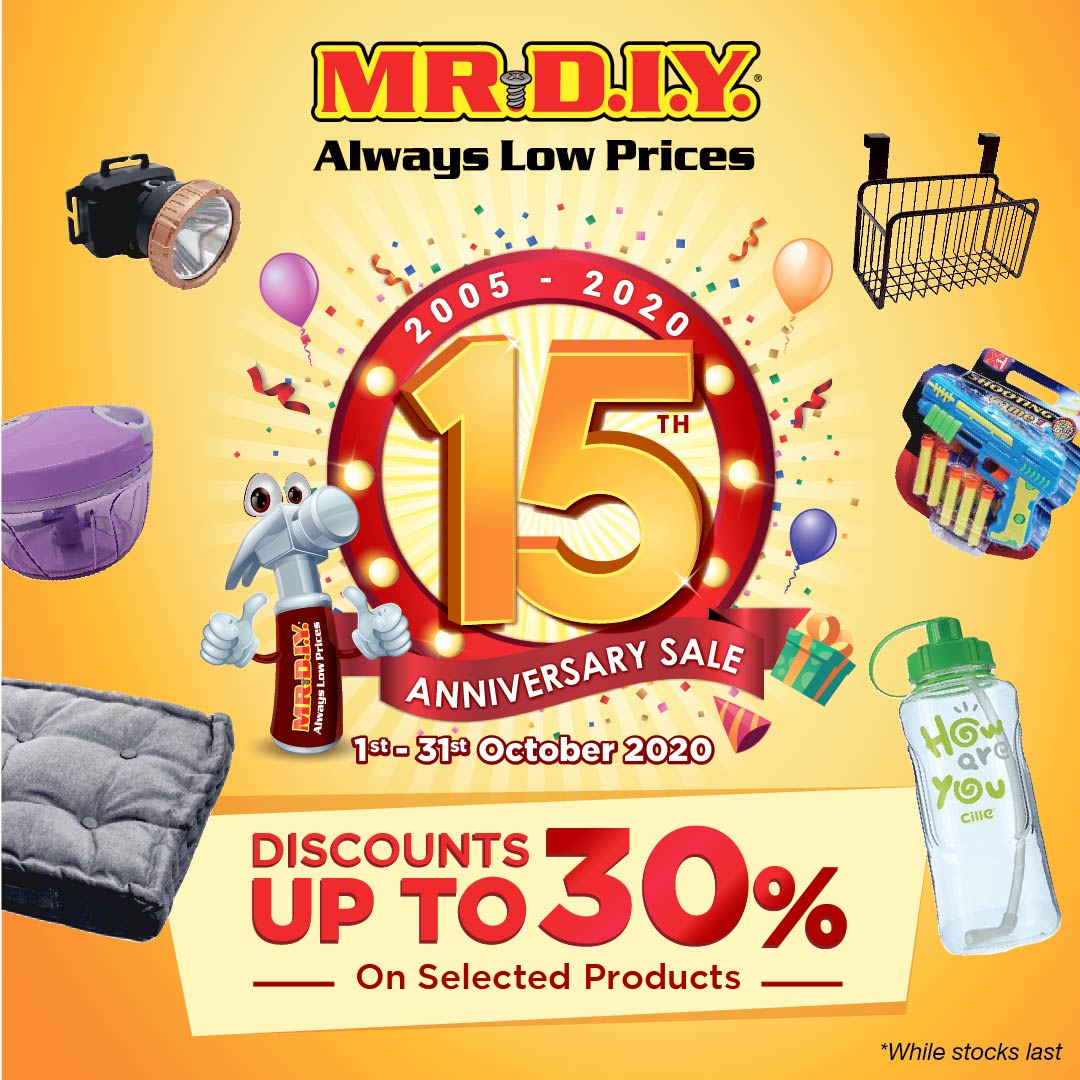 MR.DIY Celebrates 15 Years Of 'Always Low Prices'
