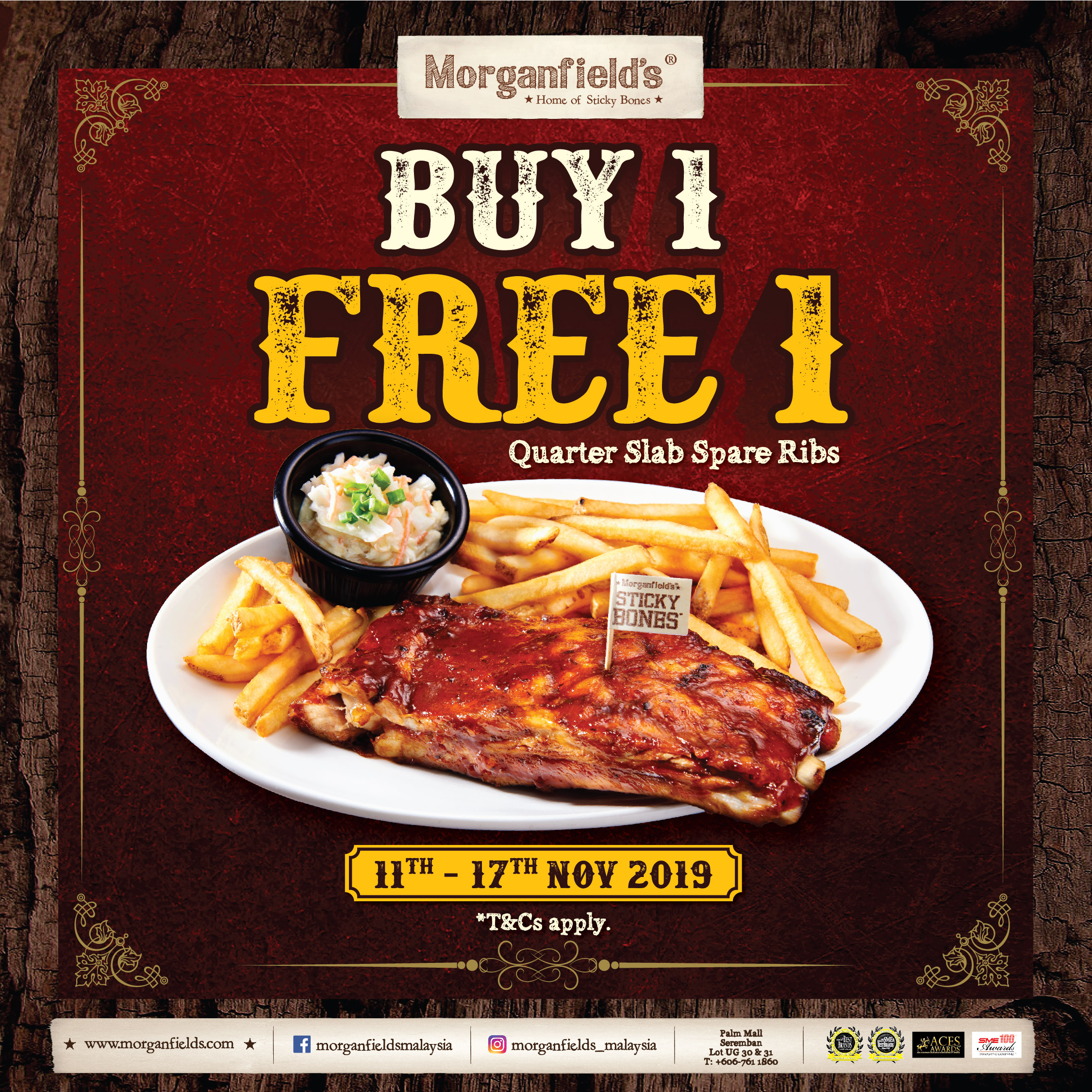 Buy 1 FREE 1 Spare Ribs!