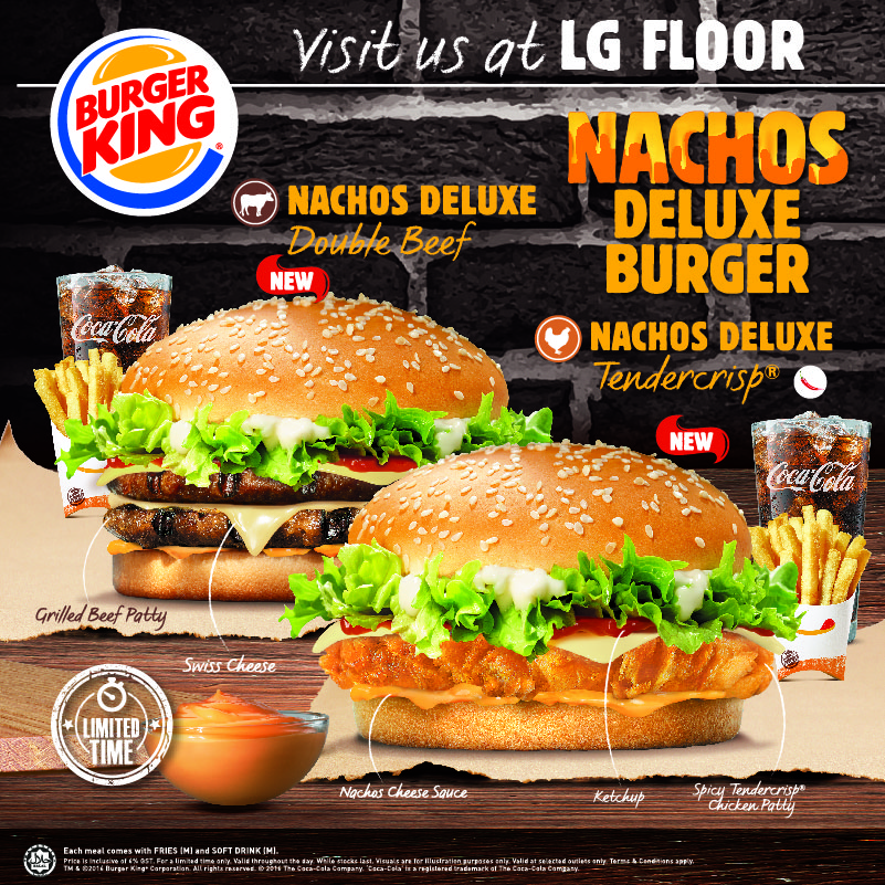 NEW Nachos Deluxe Burger