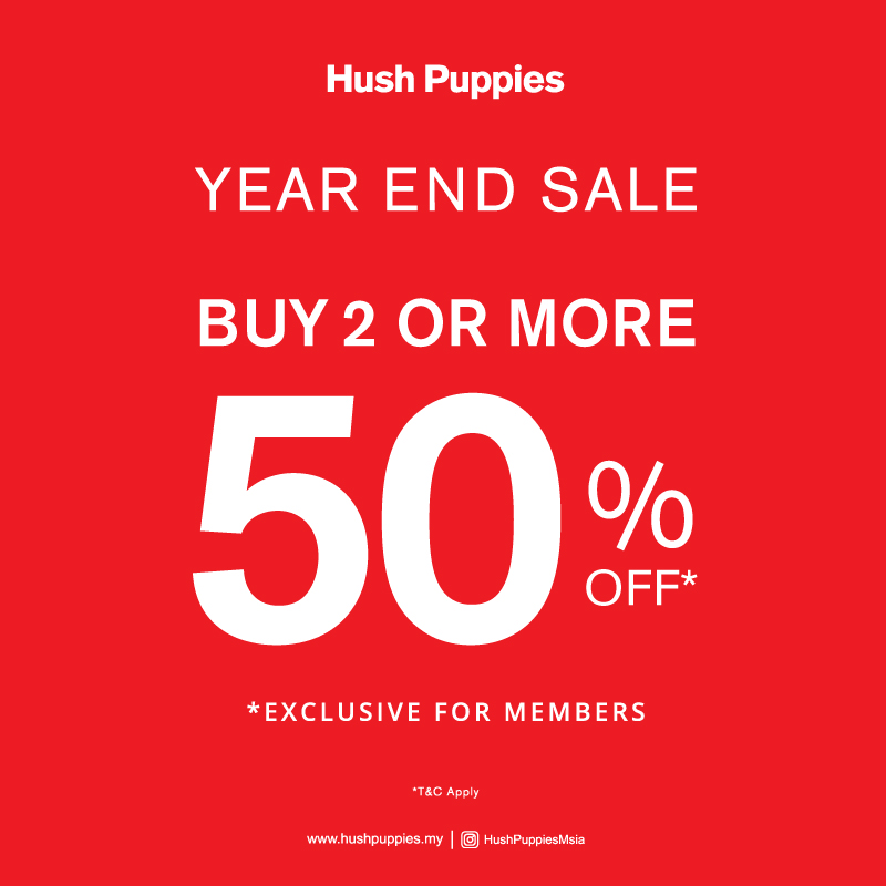 Hush Puppies' Year End Sale!