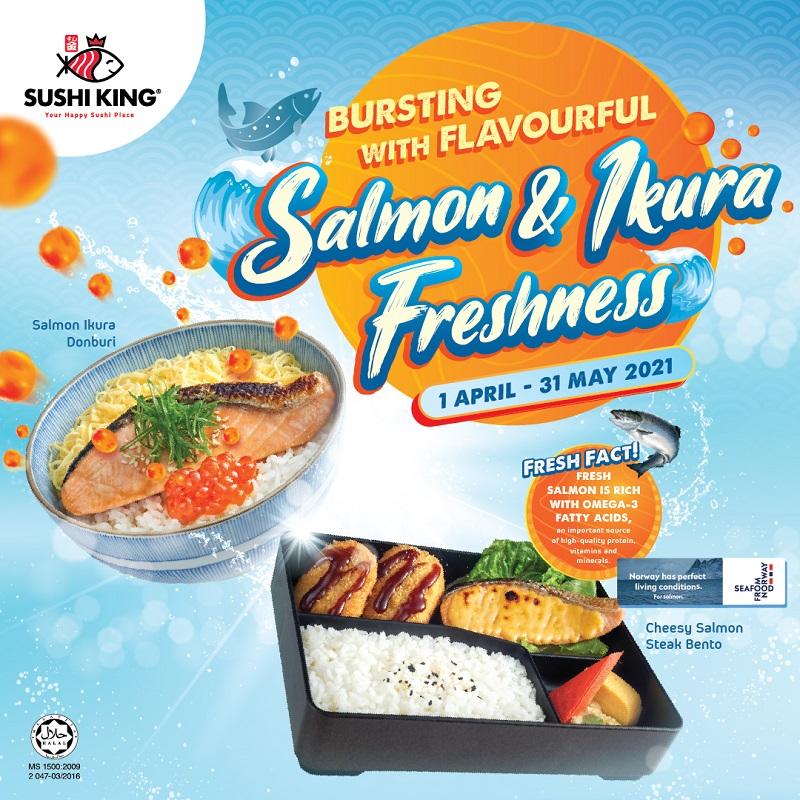 Bursting with Flavourful Salmon & Ikura Freshness