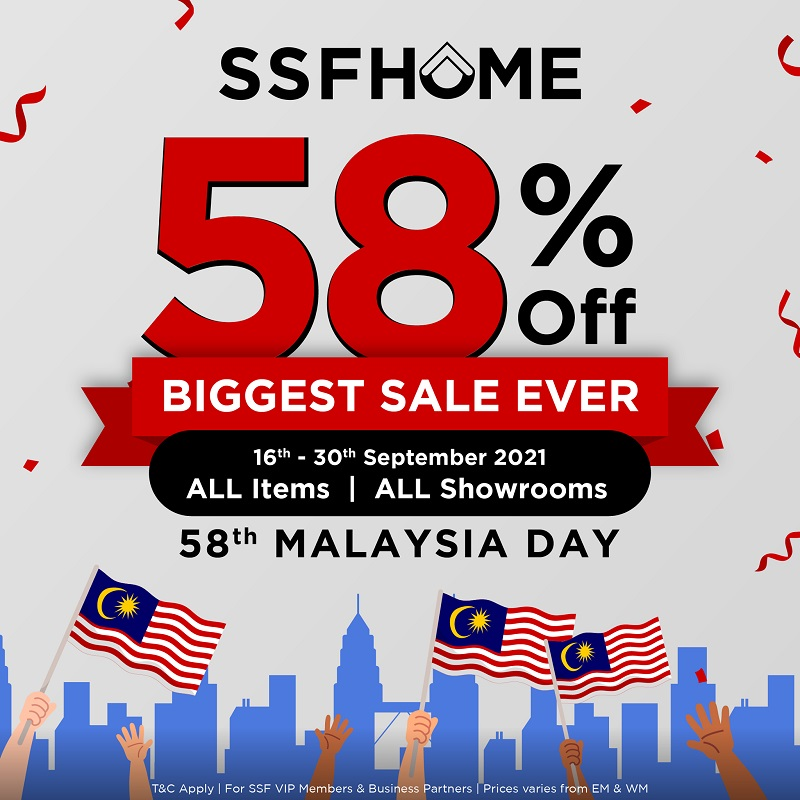 SSF Malaysia Day Biggest Sale Ever - 58% OFF