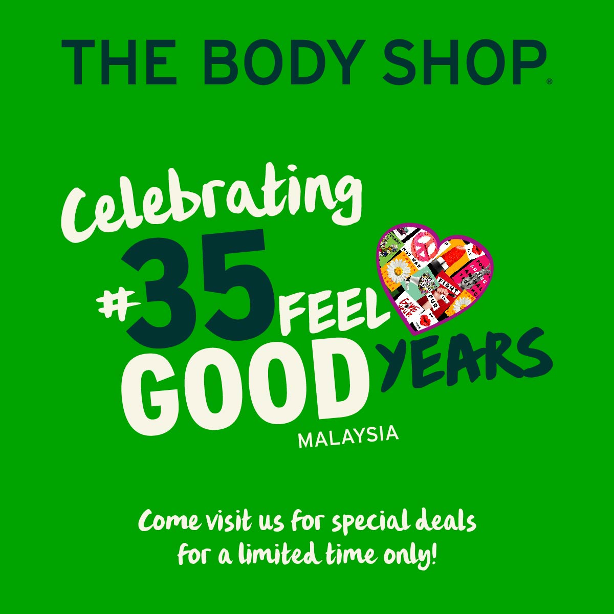 The Body Shop 35th Anniversary