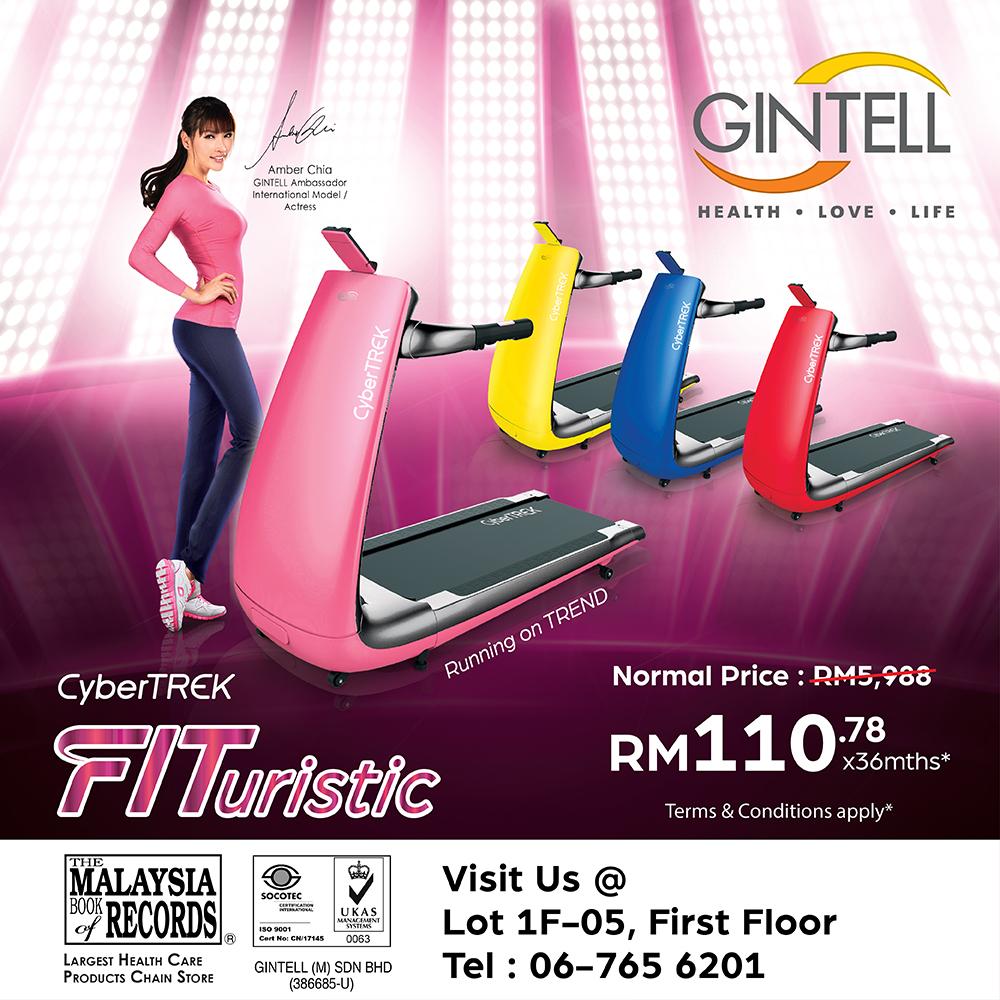 GINTELL  CyberTREK FITuristic Treadmill