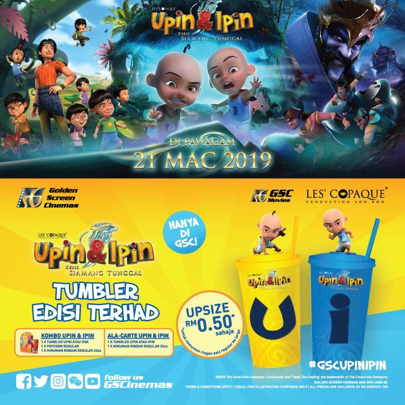 GSC Upin & Ipin Tumbler