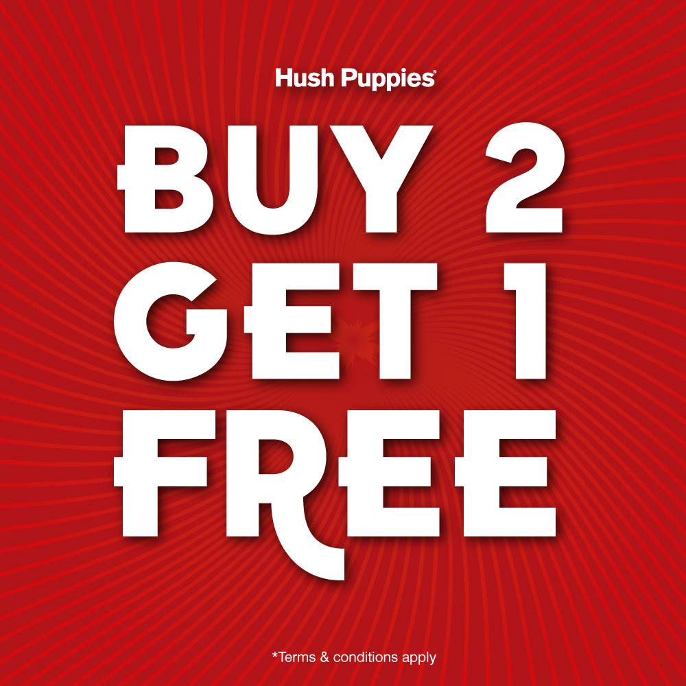 Hush Puppies Buy 2 Free 1