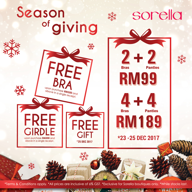 Sorella Seasons of Giving Promotion
