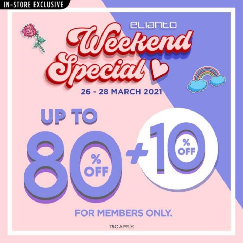 Elianto Weekend Specials on 26-28/3/2021