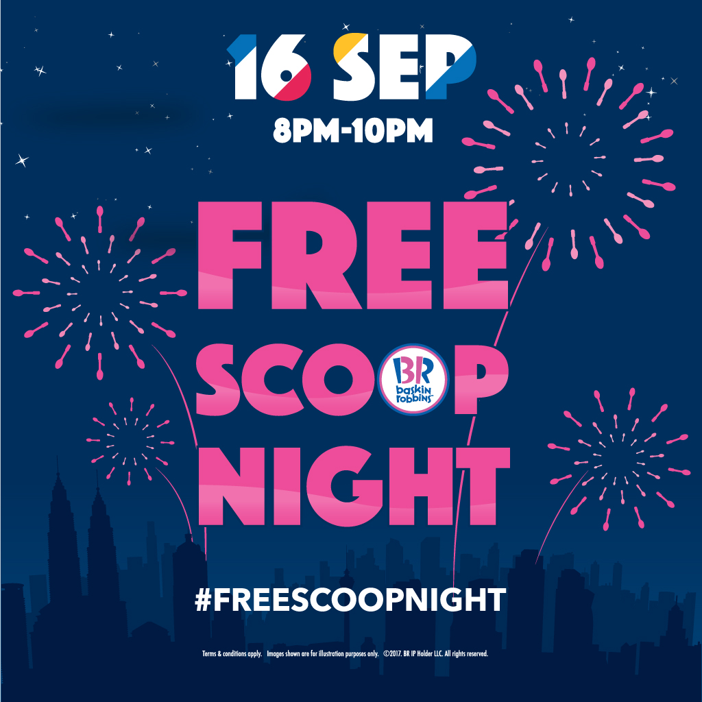 Baskin Robbins Free Scop Night