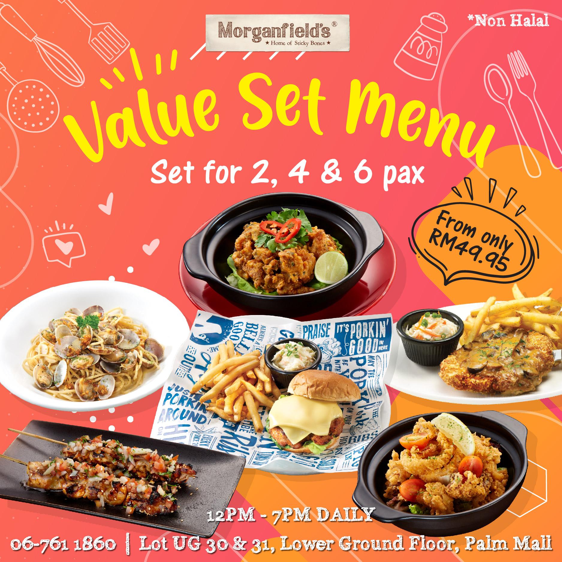 Morganfield's Value Set Menu