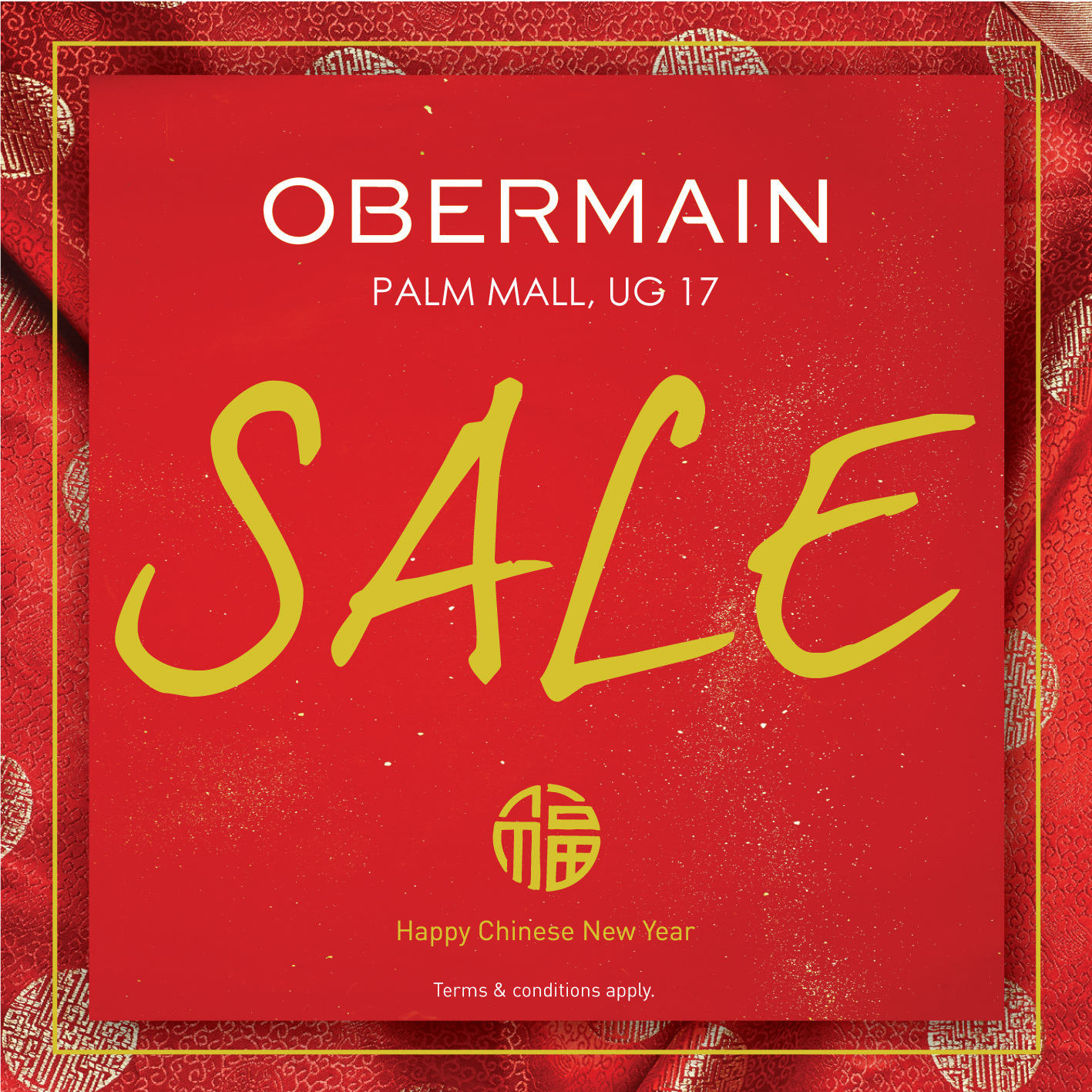 Obermain Chinese New Year Sale 2018
