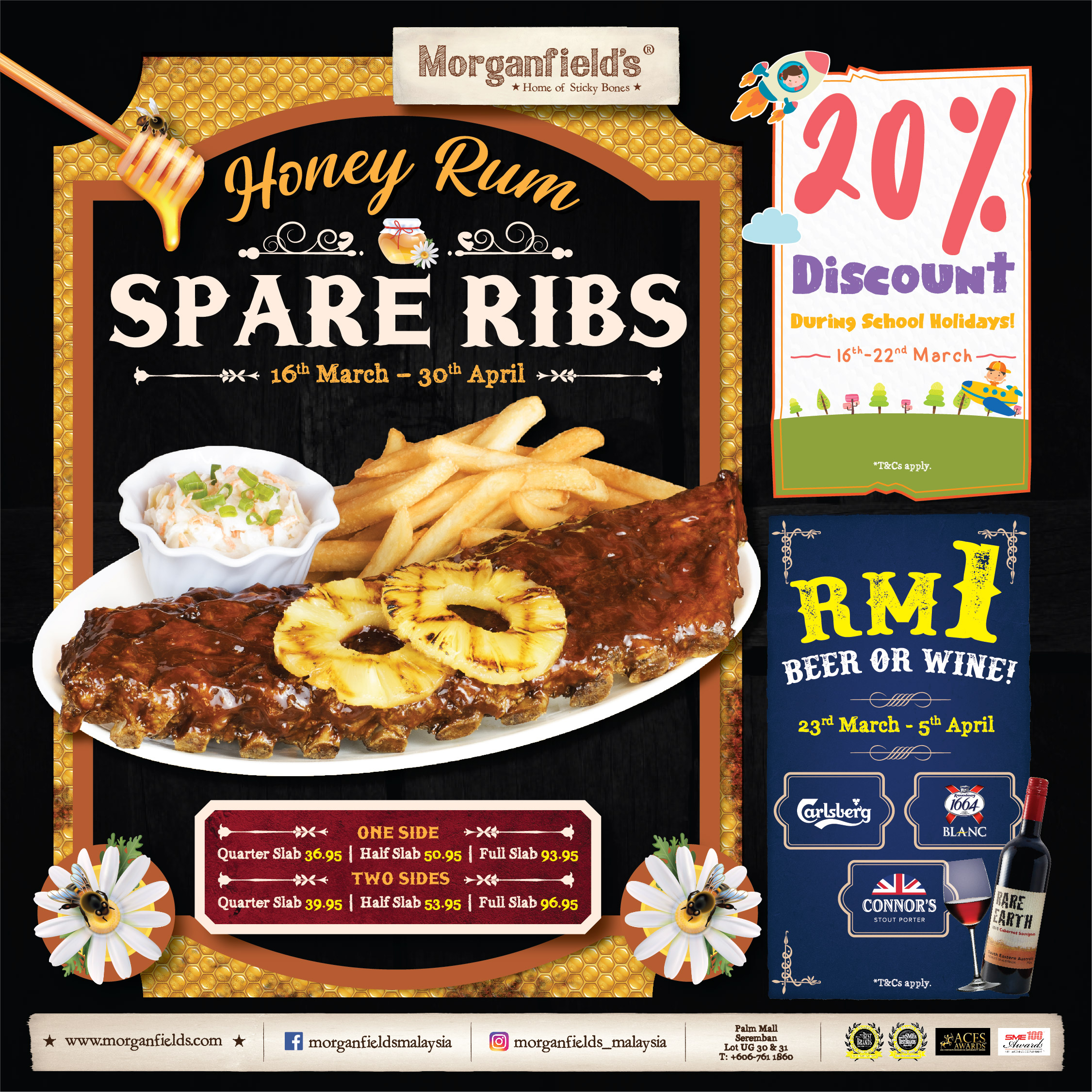 Morganfield's Honey Rum Spare Ribs