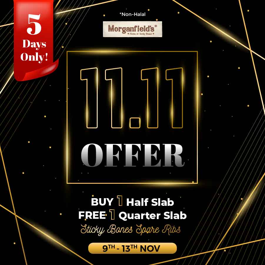 Morganfield's 11.11 Crazy Offer