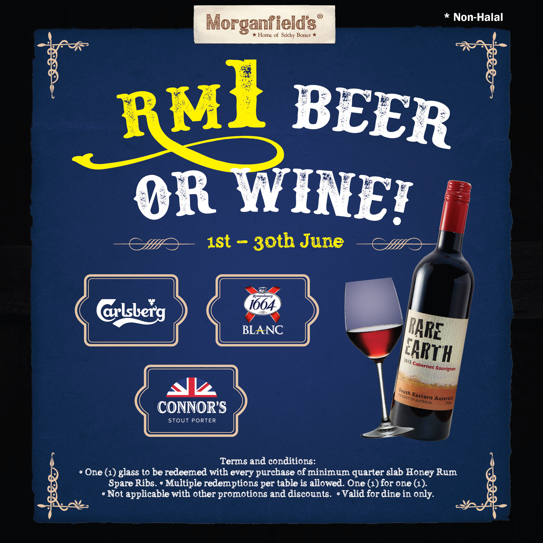 RM1 Beer or Wine at Morganfields
