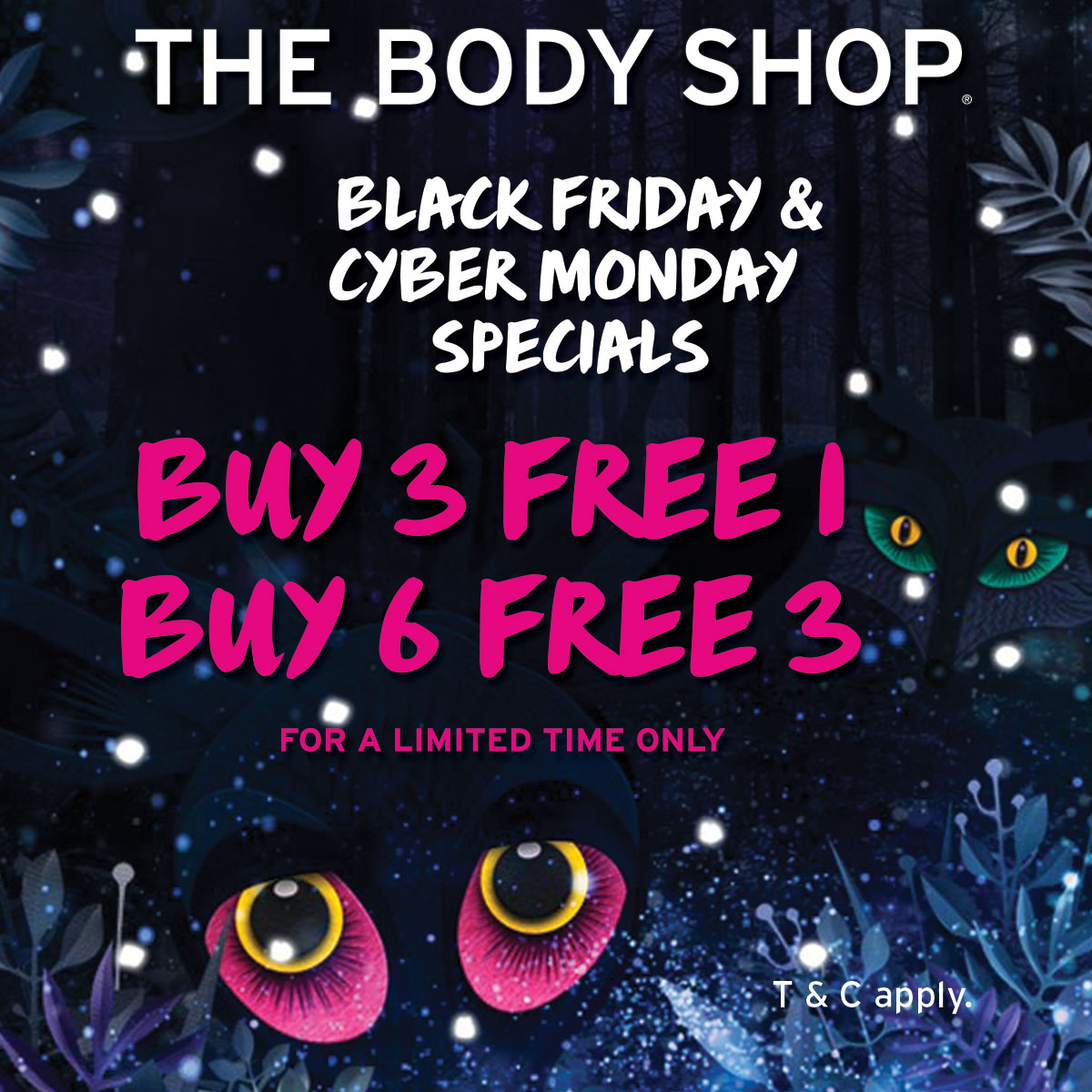 The Body Shop Black Friday Cyber Monday Sale