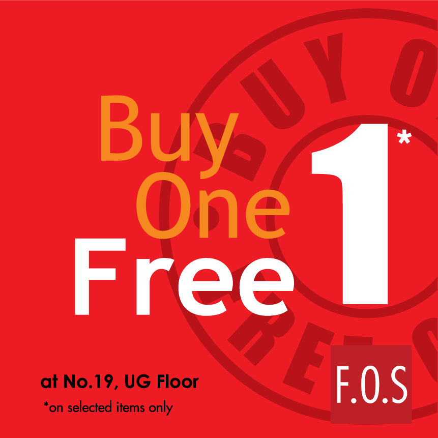 F.O.S Buy 1 Free 1 Promotion
