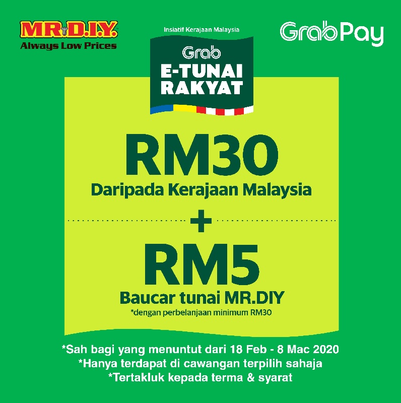 Mr DIY: Pay with Grabpay