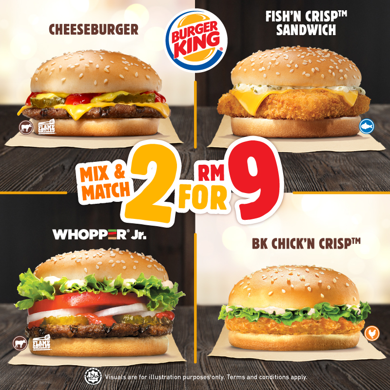 Burger King 2 for RM9