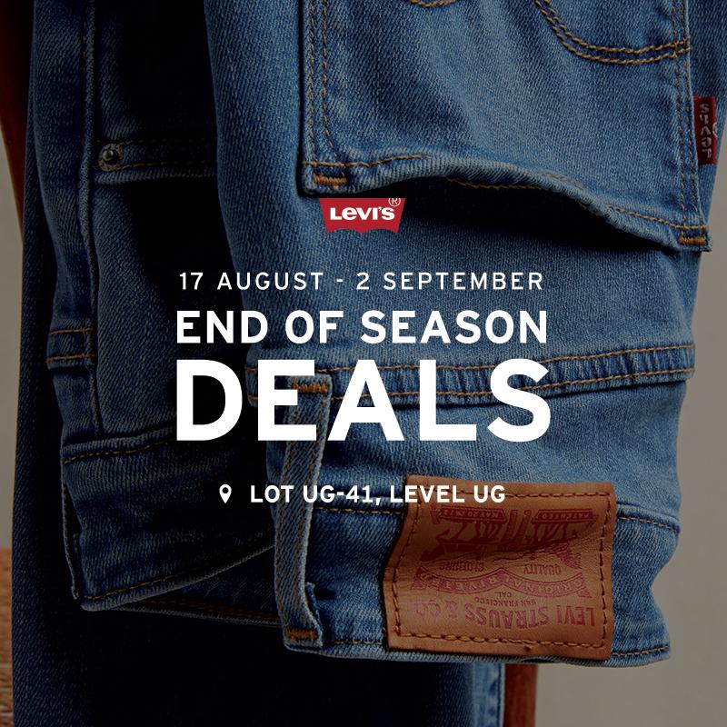 Levi's August Promotion - End of Season Deals
