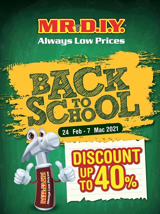 Mr DIY Back to School Discount Up 40%