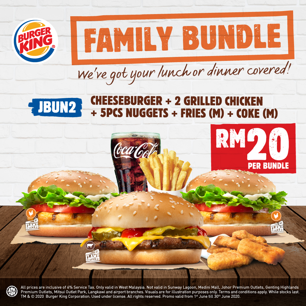 Burger King: Family Bundle Deals