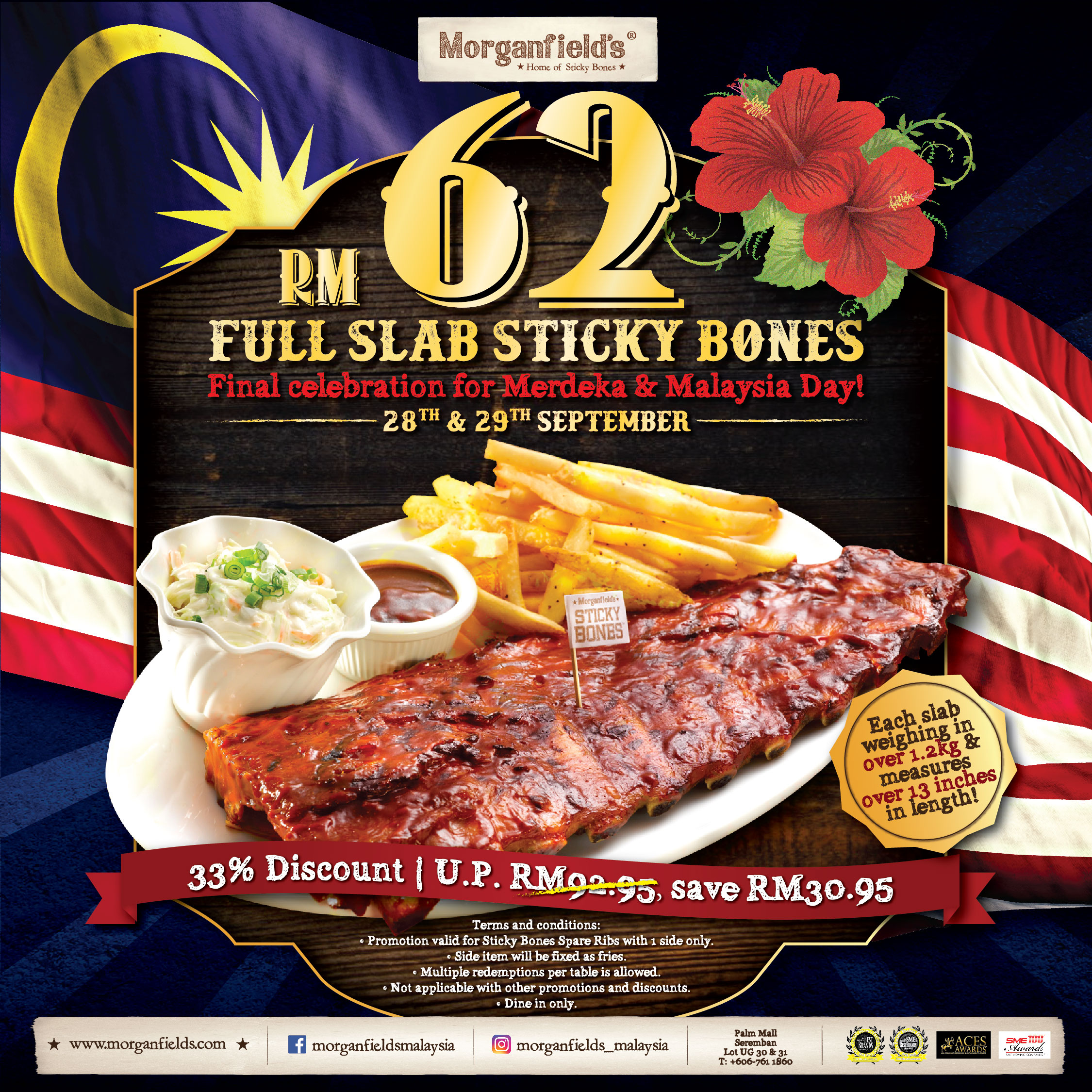Full Slab Rib's Offer at Morganfield's