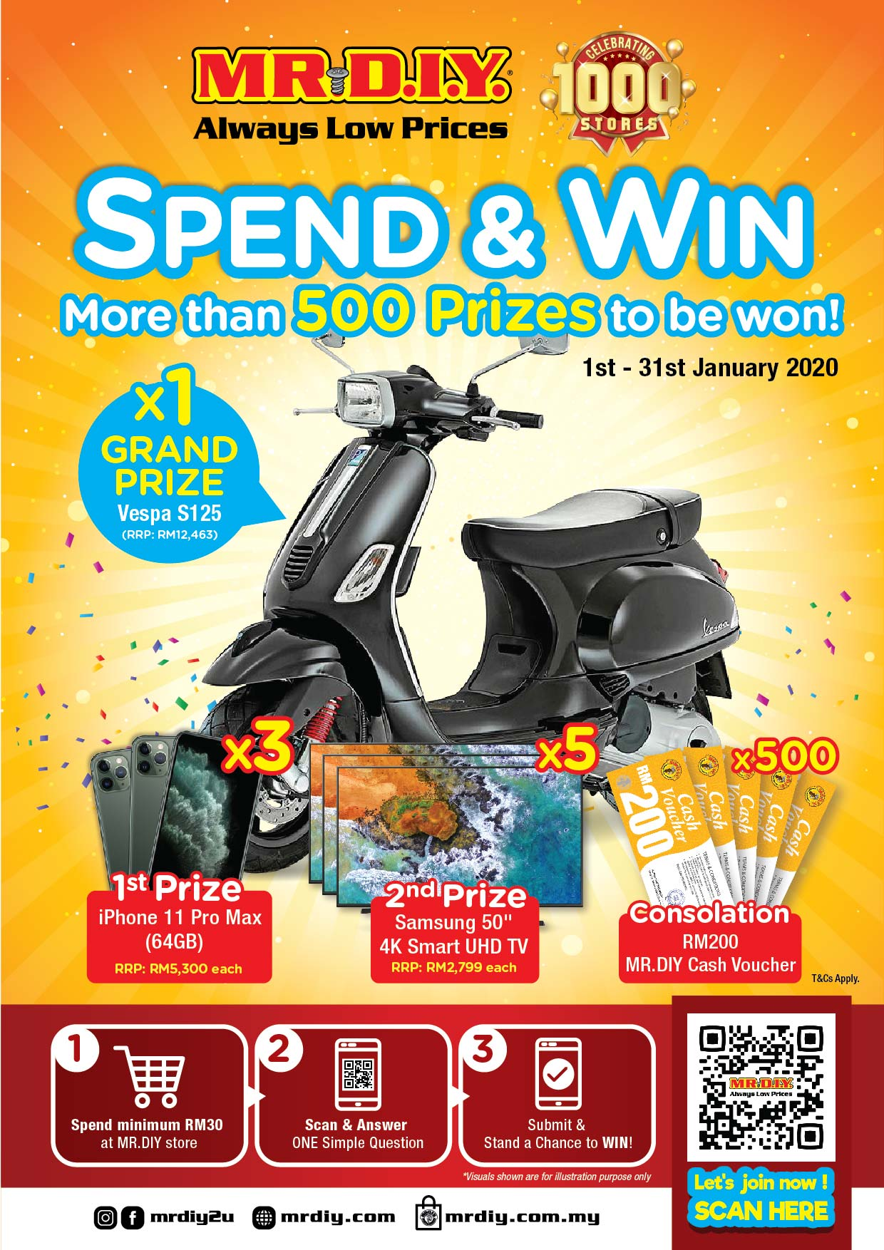 Join MR D.I.Y Spend & Win Contest