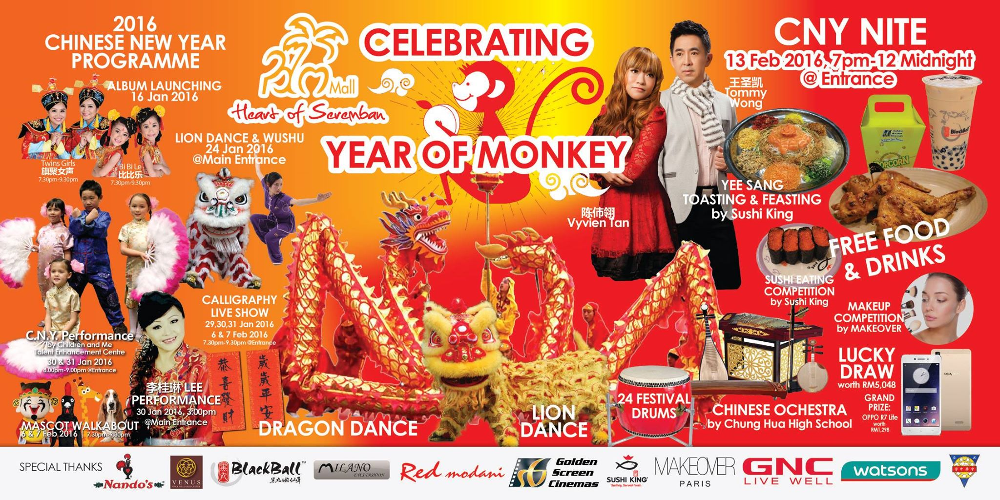 Celebrating Year of Monkey