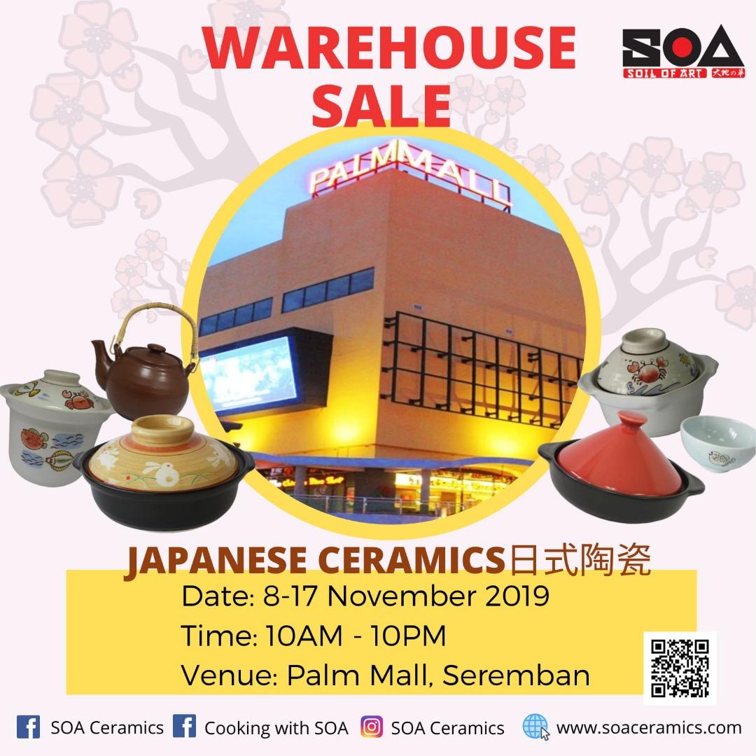 Soa Ceramics Warehouse Sales !
